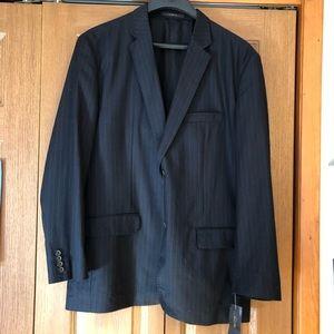 Tasso Elba Navy Blue pinstriped suit jacket